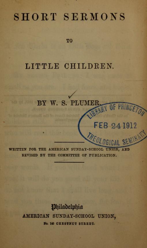 Short Sermons to little children.jpg