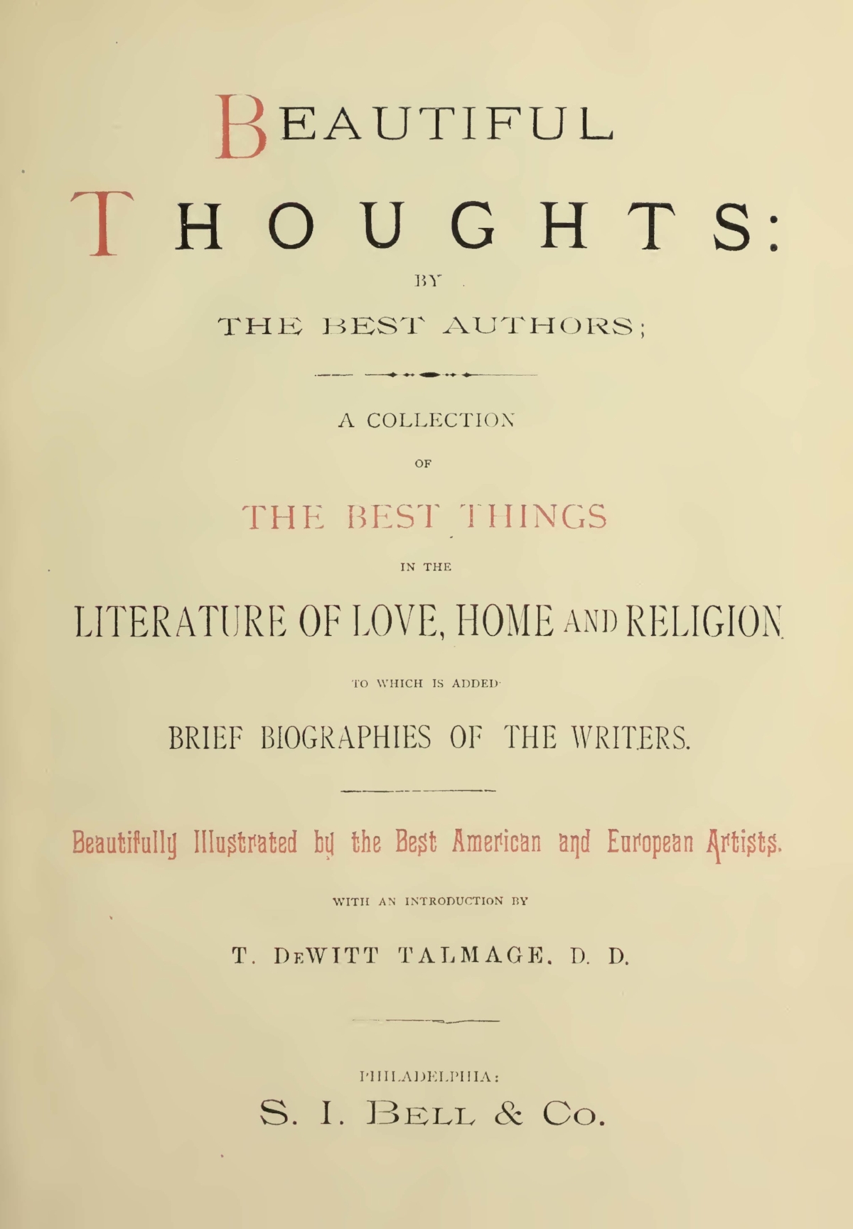 Talmage, Thomas De Witt, Beautiful Thoughts Title Page.jpg