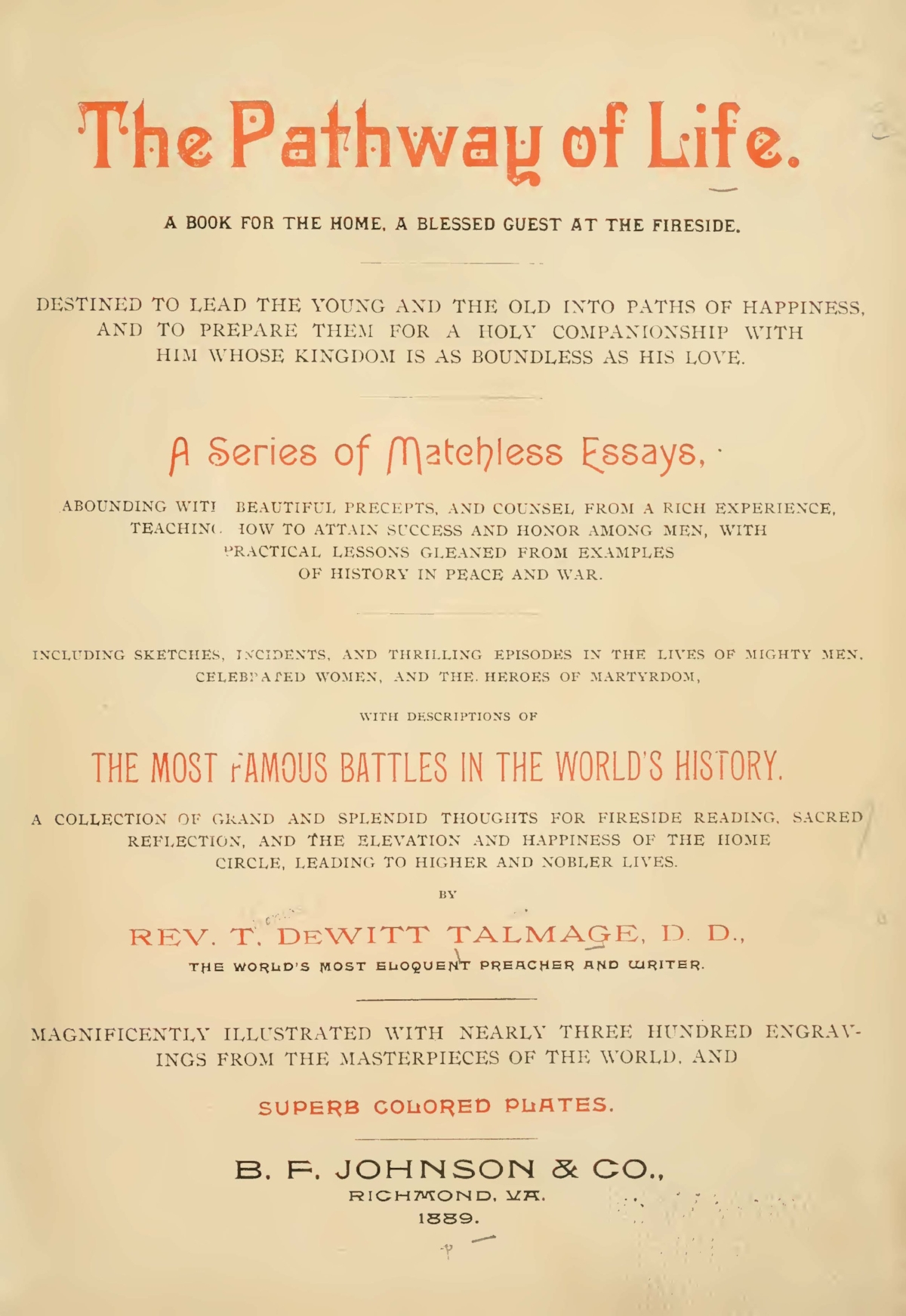 Talmage, Thomas De Witt, The Pathway of Life Title Page.jpg