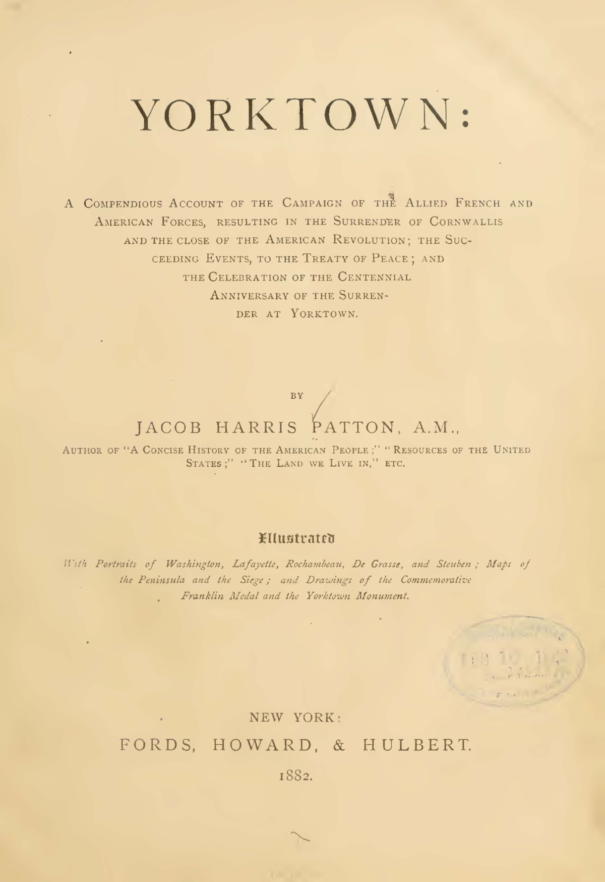 Patton, Jacob Harris, Yorktown Title Page.jpg