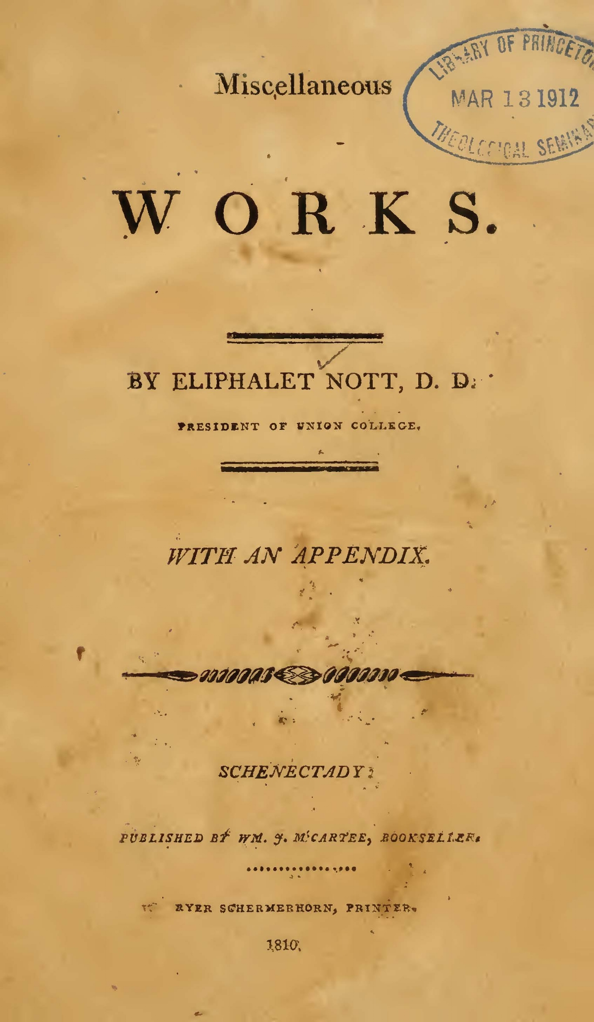 Nott, Eliphalet, Miscellaneous Works Title Page.jpg