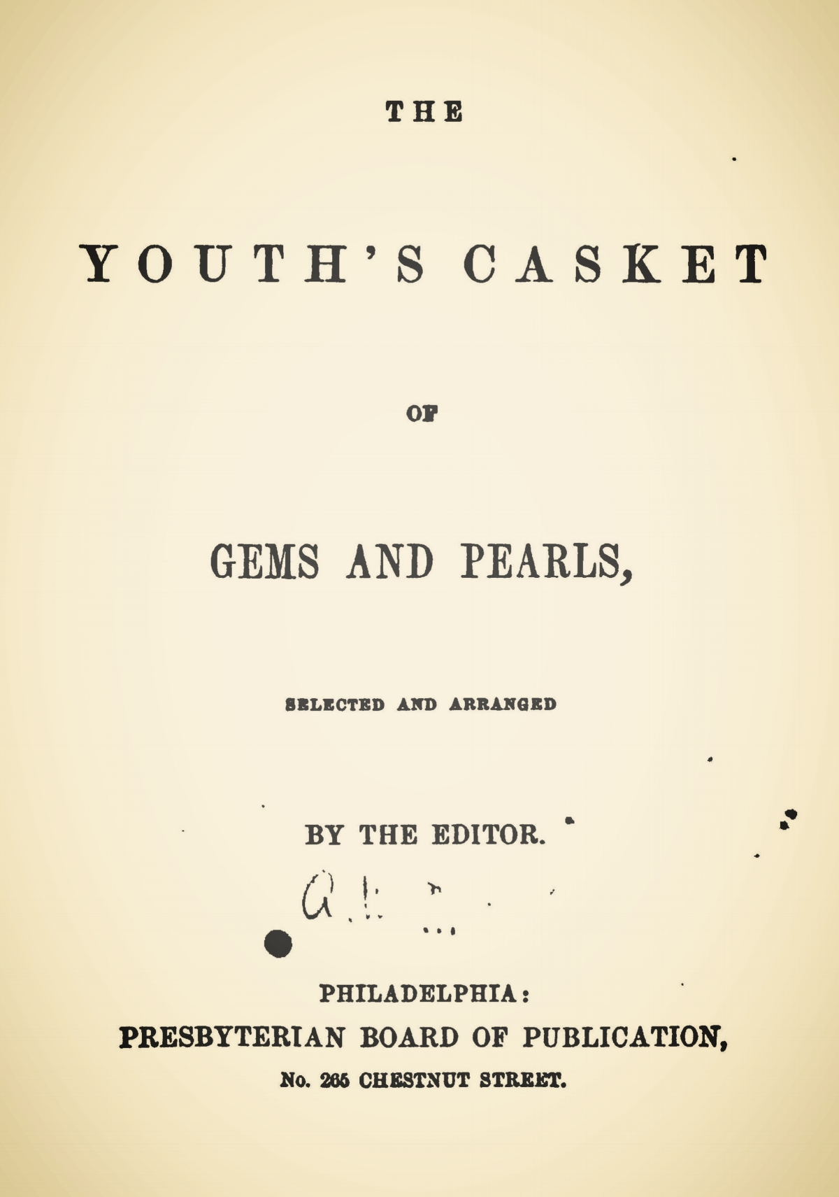 Engles, William Morrison, The Youth's Casket Title Page.jpg