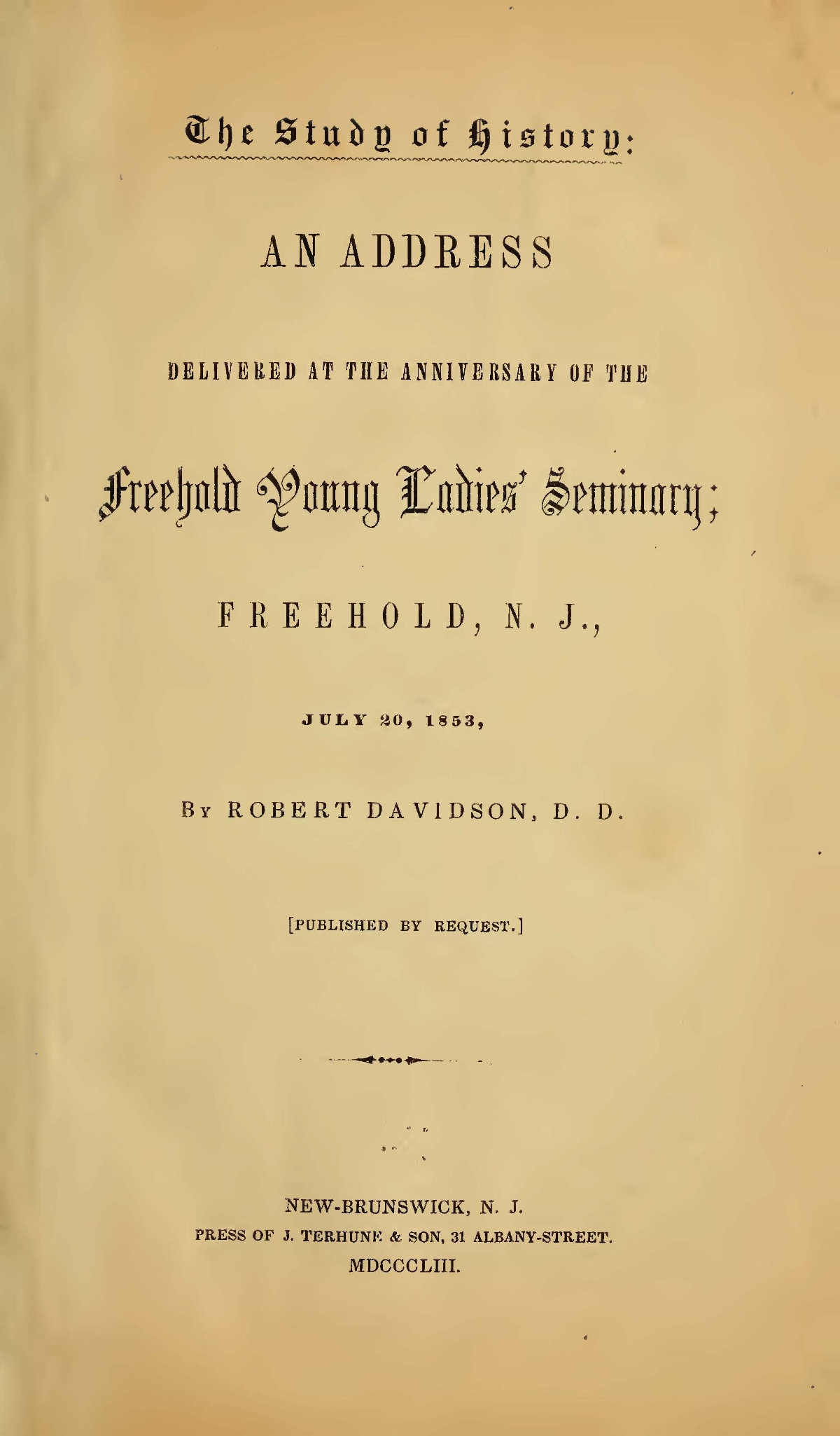 Davidson, Robert, The Study of History Title Page.jpg