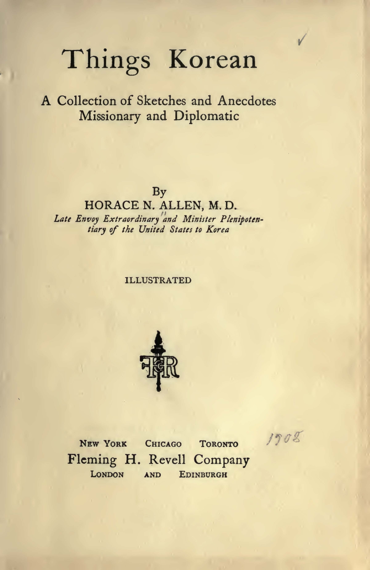 Allen, Horace Newton, Things Korean Title Page.jpg
