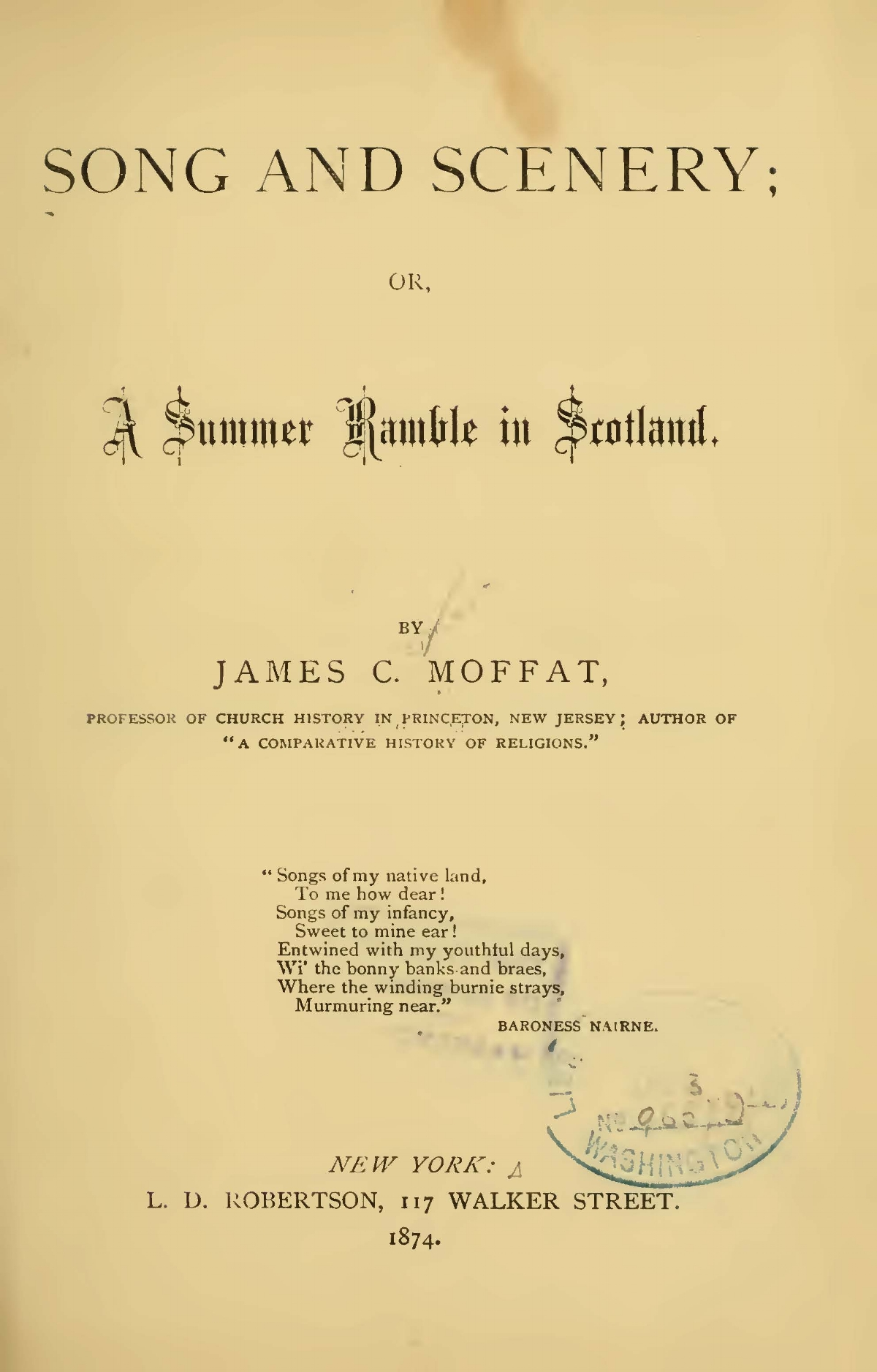 Moffat, James Clement, Song and Scenery or A Summer Ramble in Scotland Title Page.jpg