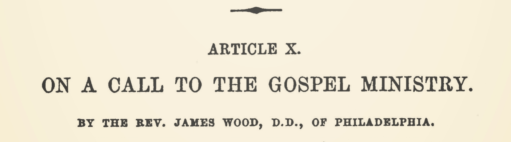 Wood, James, On a Call to the Gospel Ministry Title Page.jpg