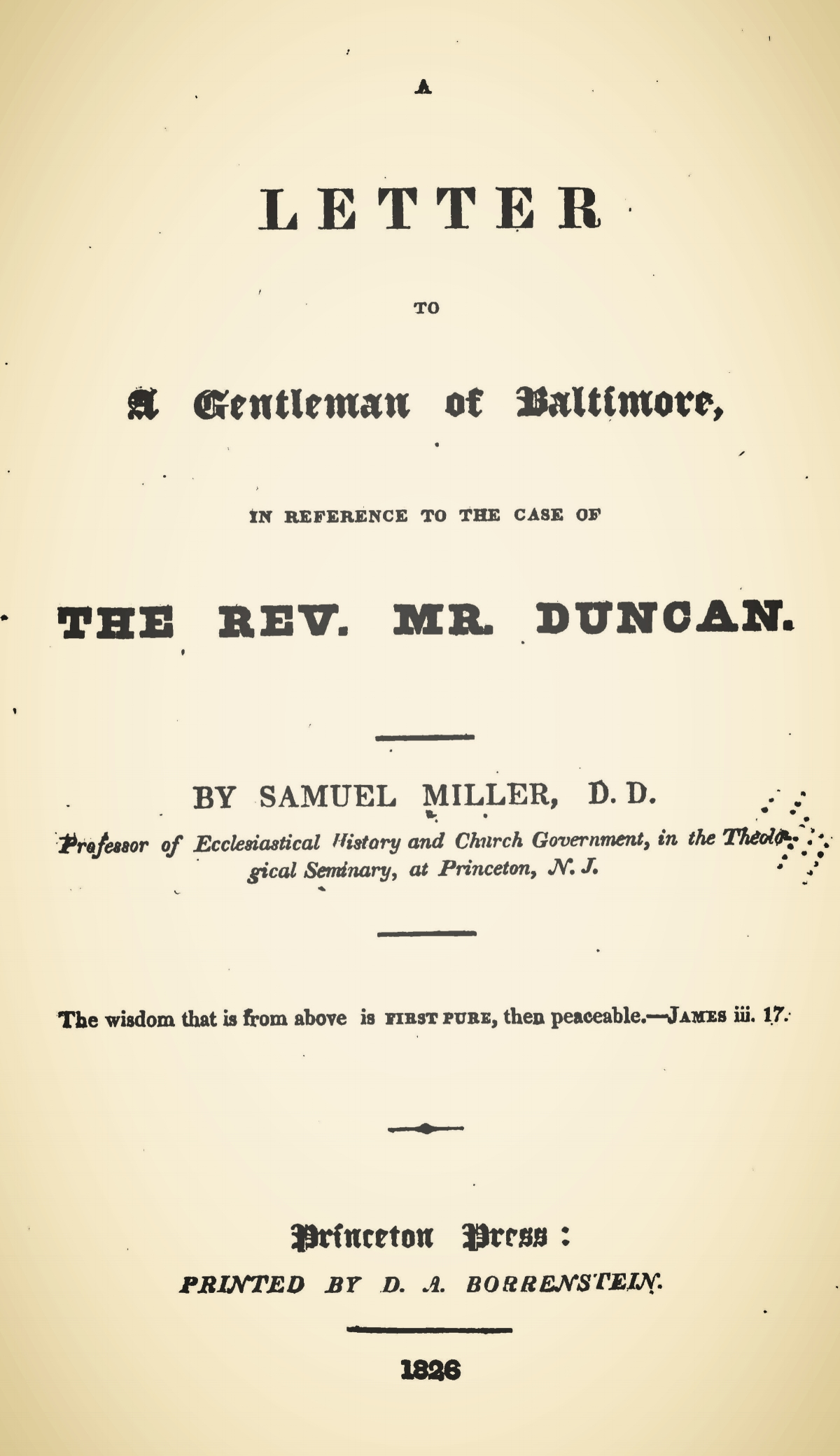 Miller, Samuel, A Letter to a Gentleman of Baltimore Title Page.jpg