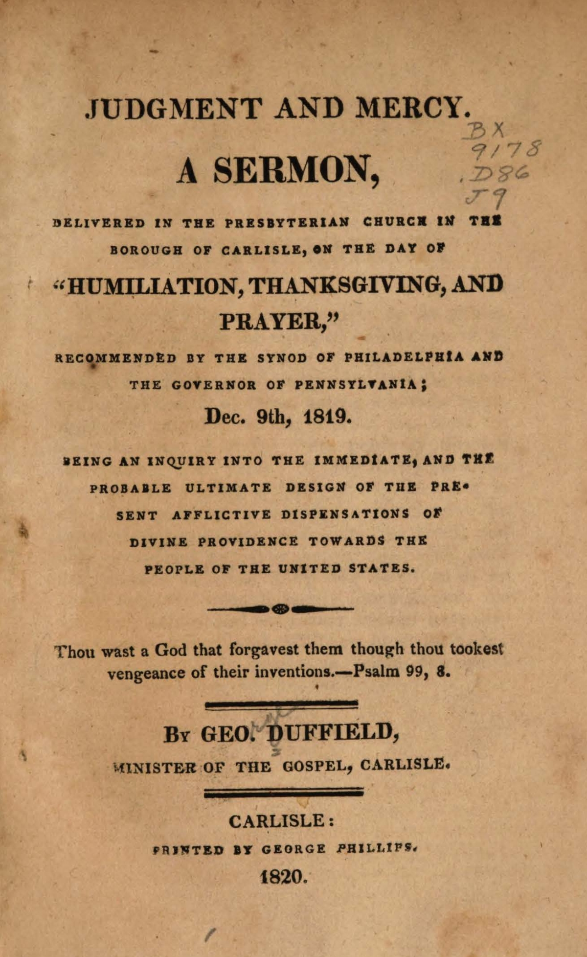 Duffield, IV, George, Judgment and Mercy Title Page.jpg