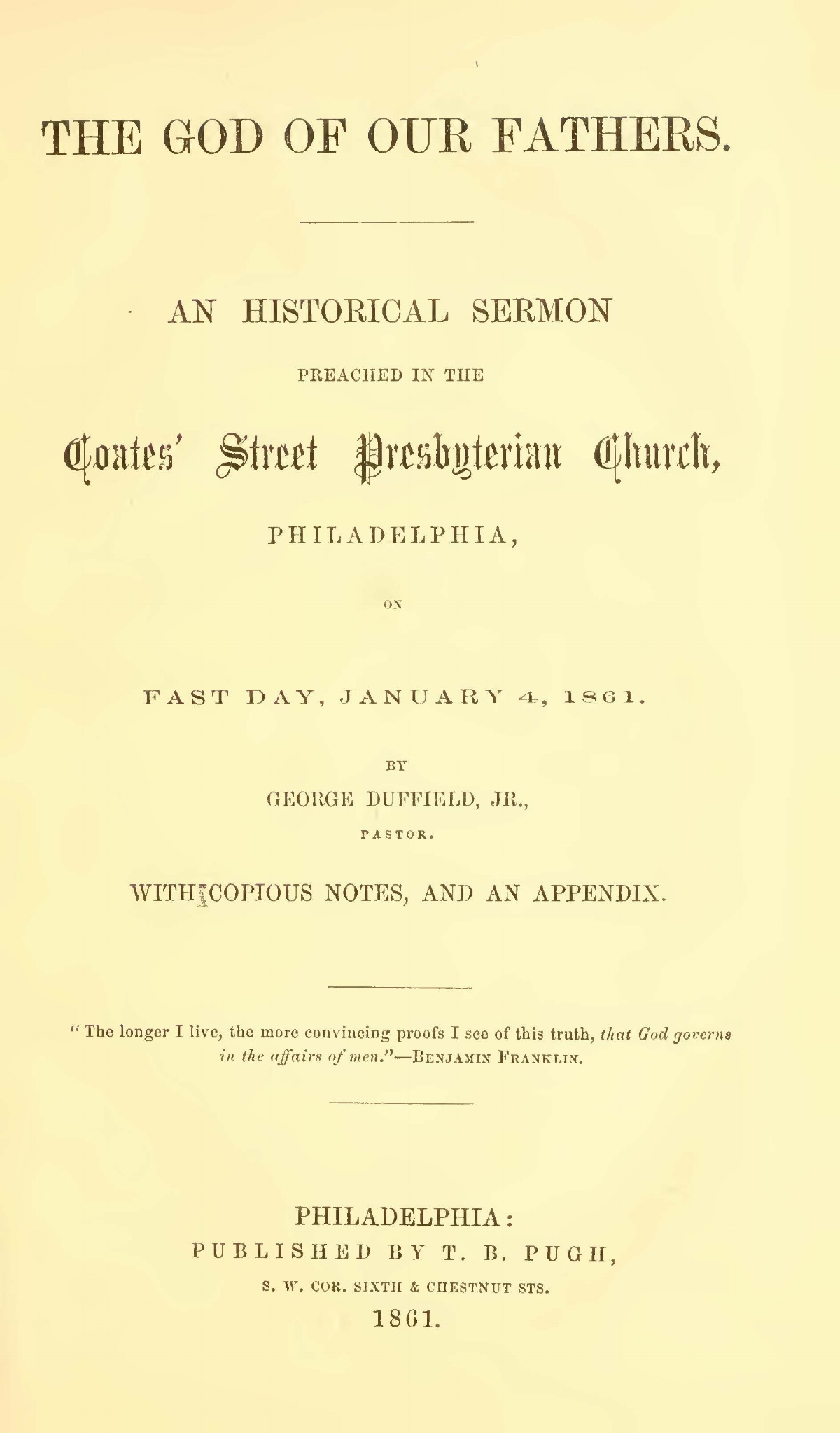 Duffield, V, George, The God of Our Fathers Title Page.jpg