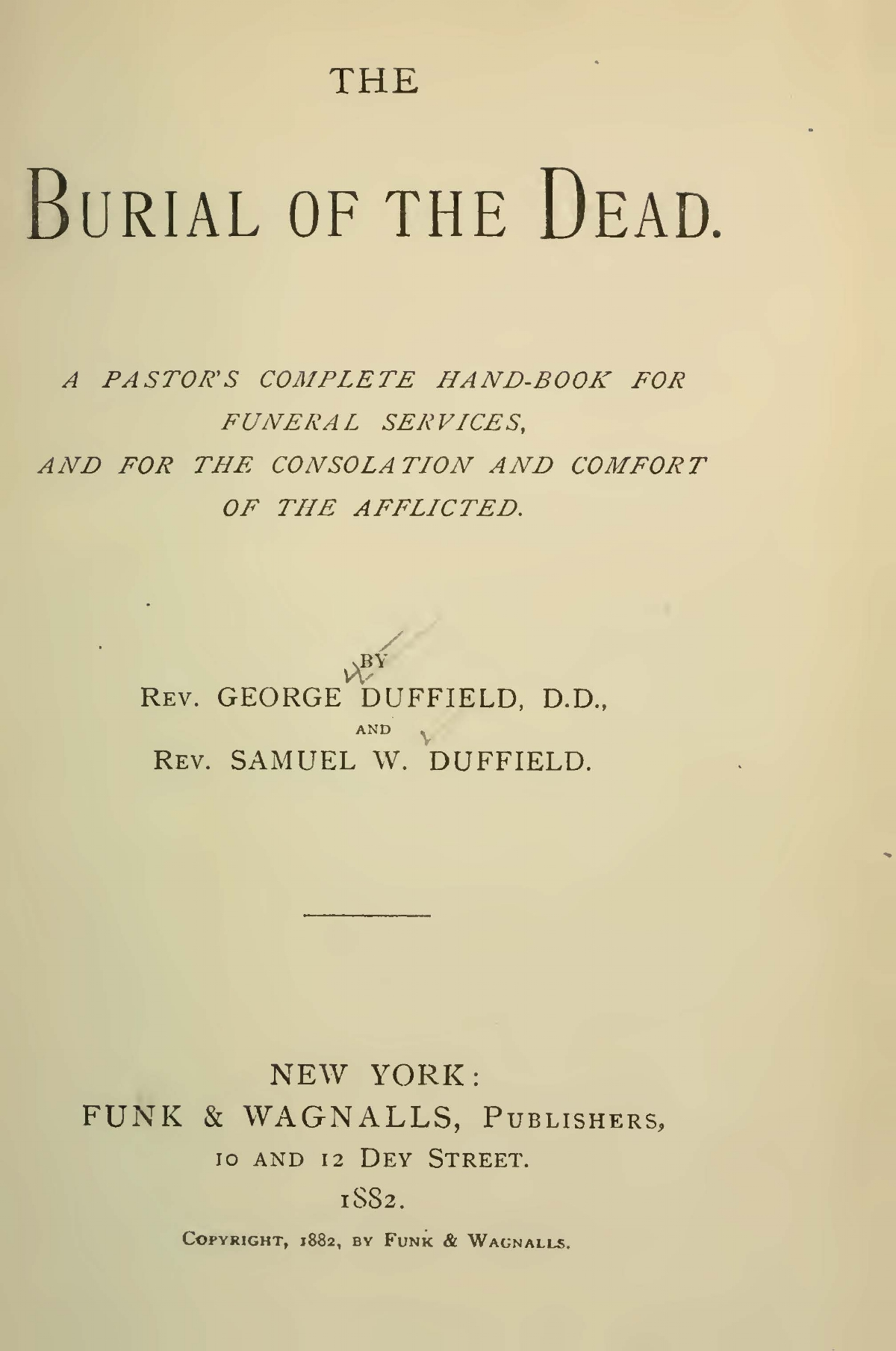 Duffield, V, George, The Burial of the Dead Title Page.jpg