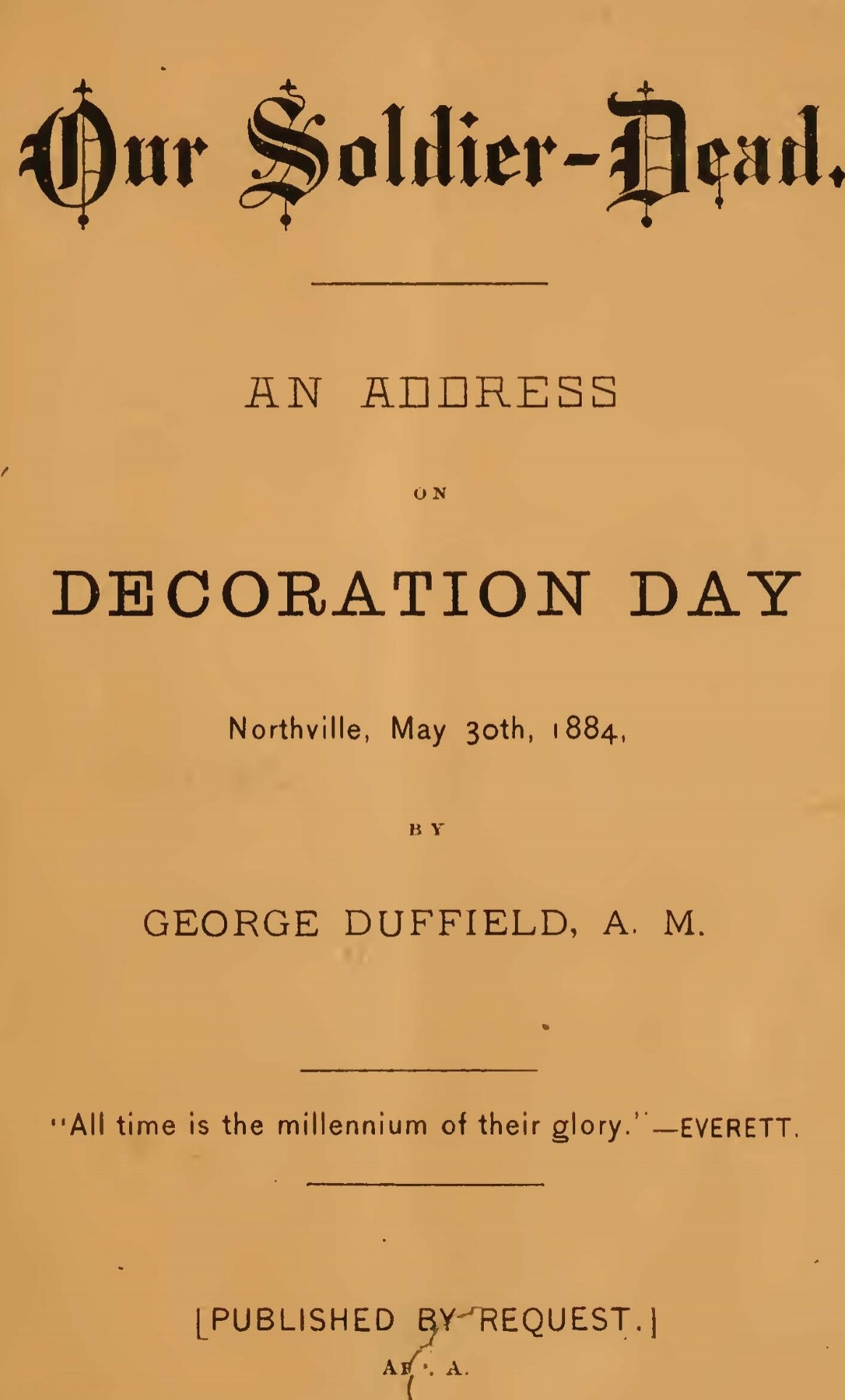 Duffield, V, George, Our Soldier-Dead Title Page.jpg