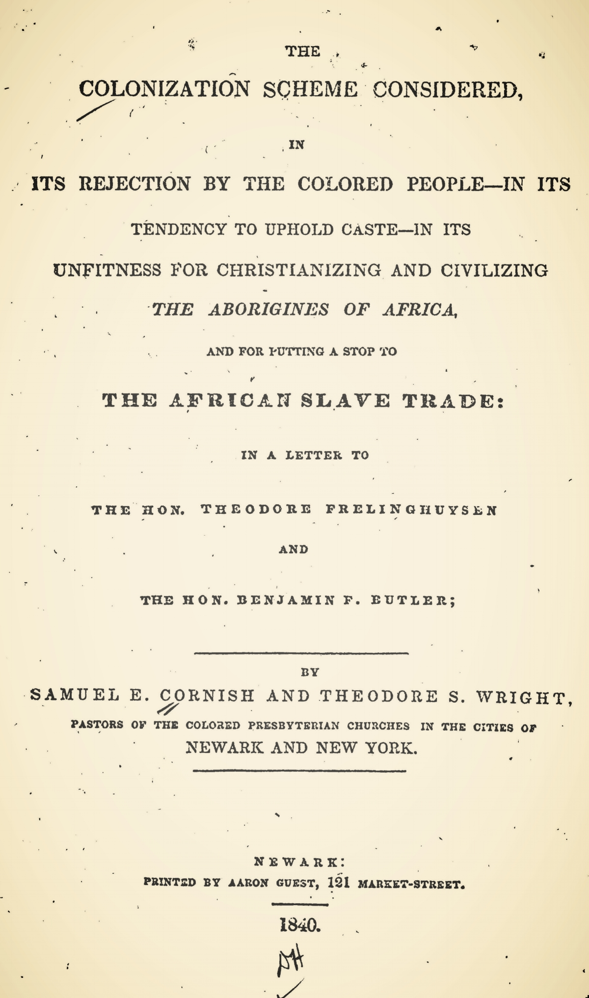Wright, Theodore Sedgwick, The Colonization Scheme Considered Title Page.jpg