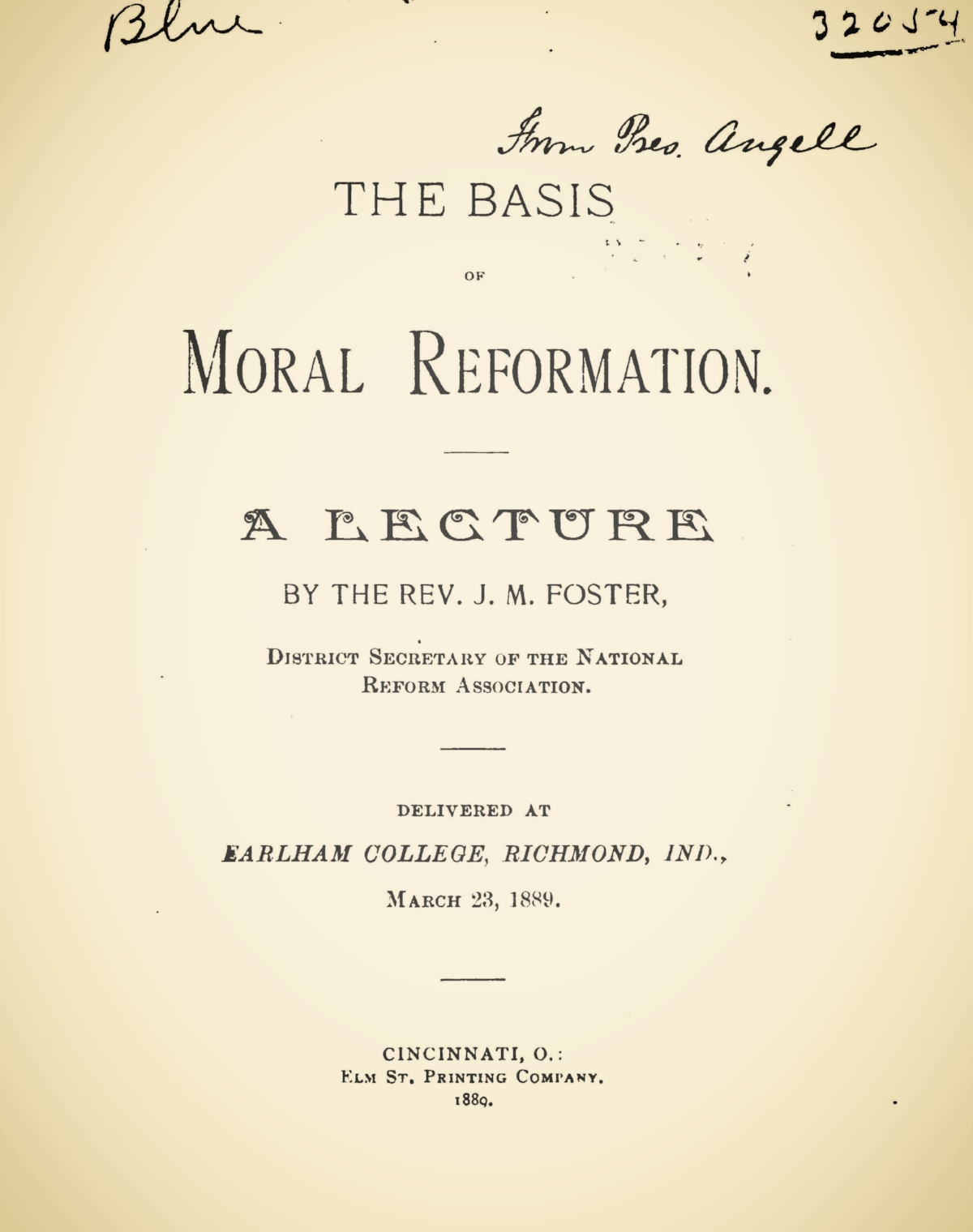 Foster, James Mitchell, The Basis of Moral Reformation Title Page.jpg