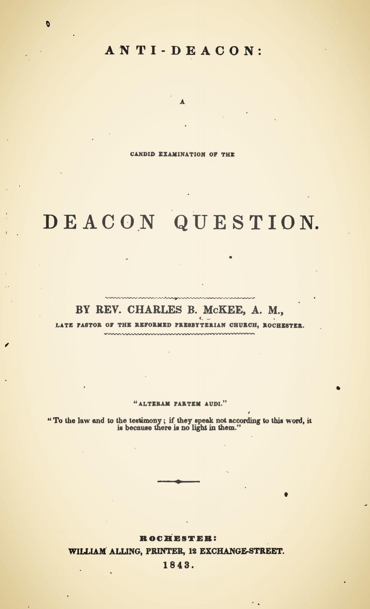 McKee, Charles Brown, Anti-Deacon Title Page.jpg