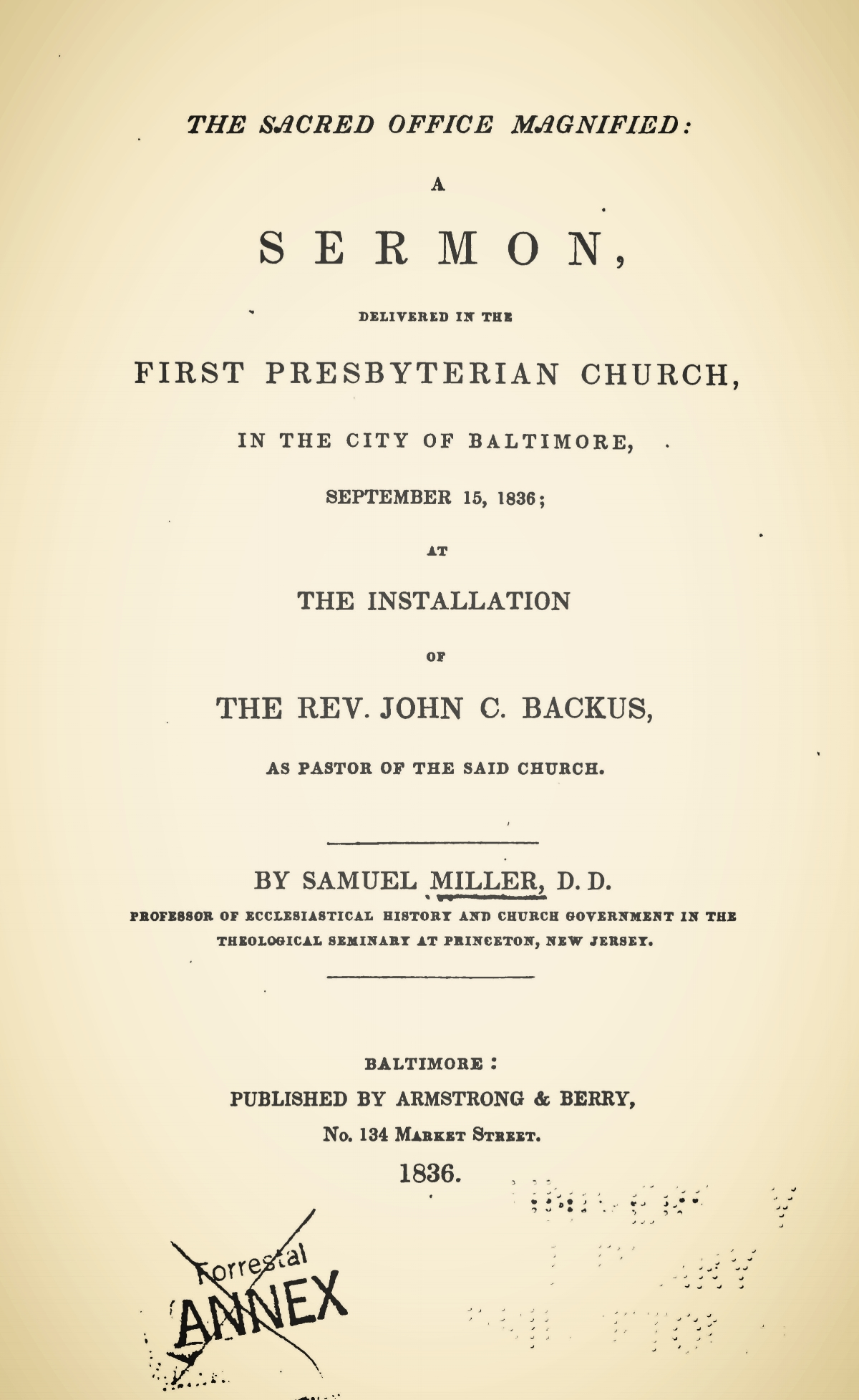 Miller, Samuel, The Sacred Office Magnified Title Page.jpg