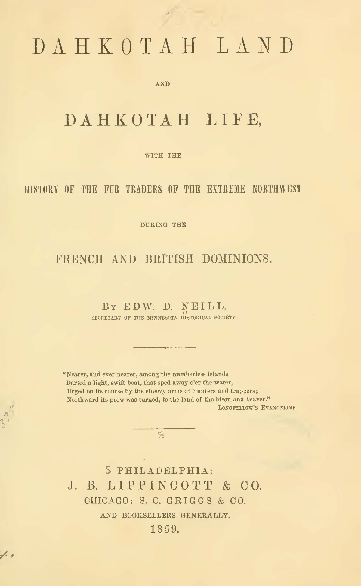 Neill, Edward Duffield, Dahkotah Land and Dahkota Life Title Page.jpg