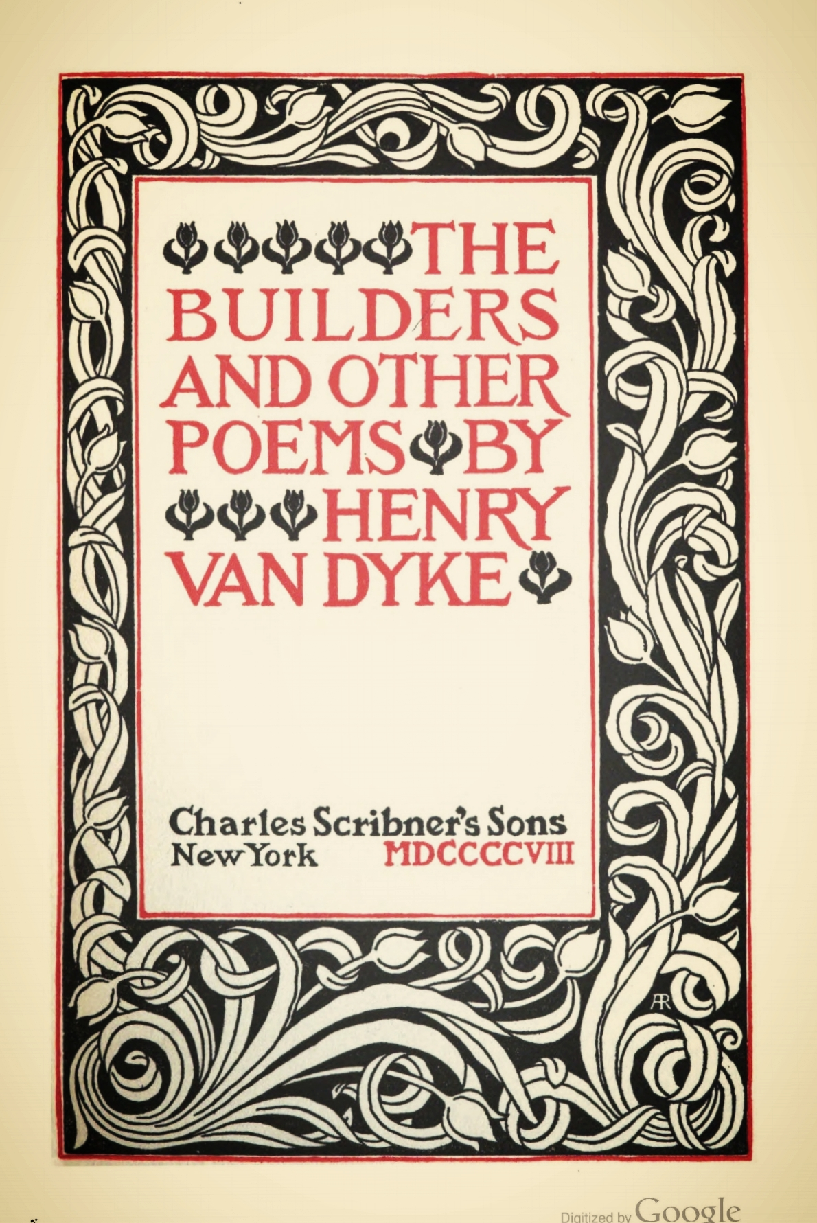 Van Dyke, Jr., Henry, The Builders and Other Poems Title Page.jpg