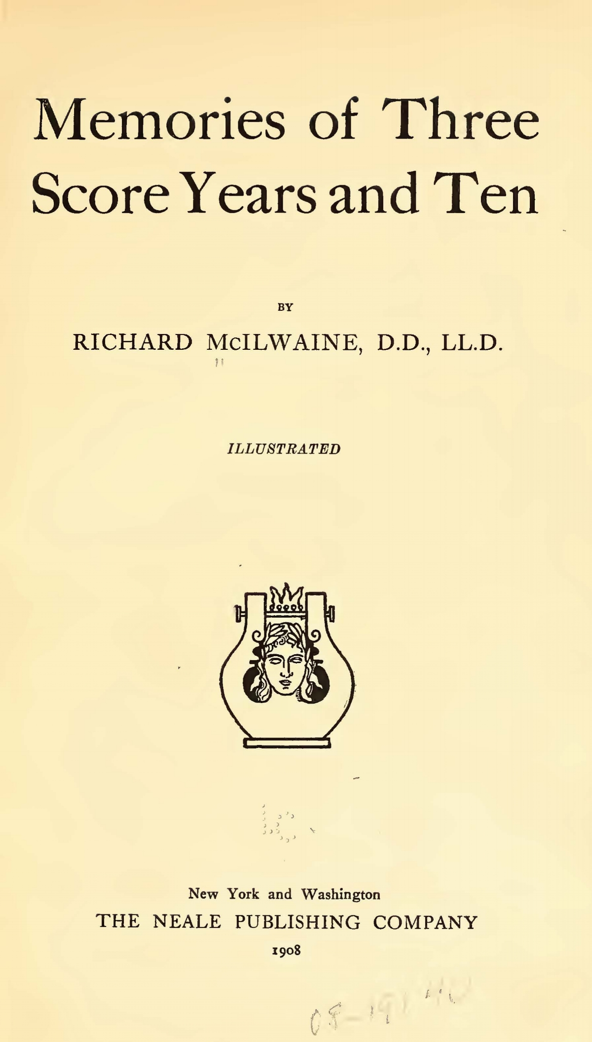 McIlwaine, Richard, Memories of Three Score Years and Ten Title Page.jpg