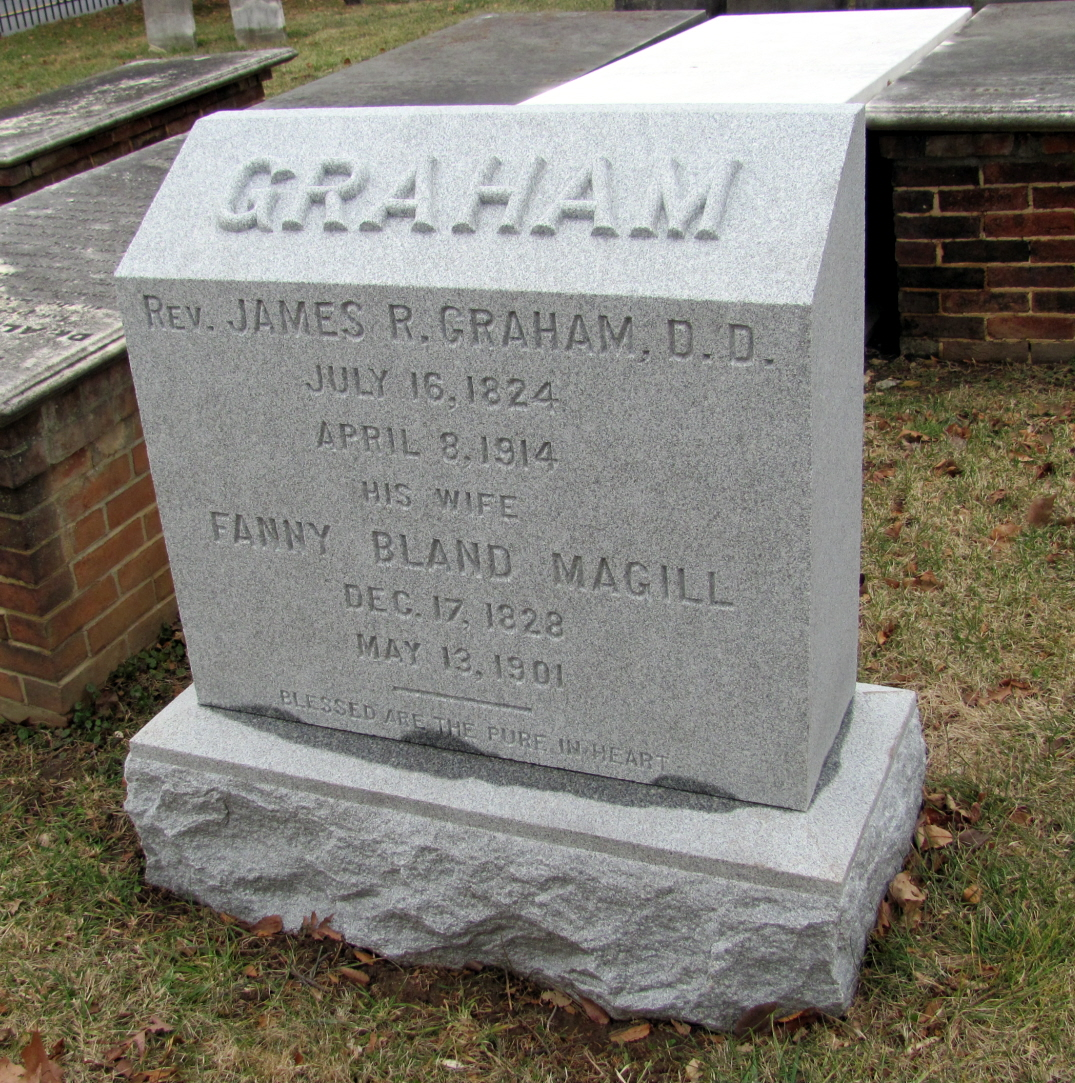 James Robert Graham is buried at Mount Hebron Cemetery, Winchester, Virginia.