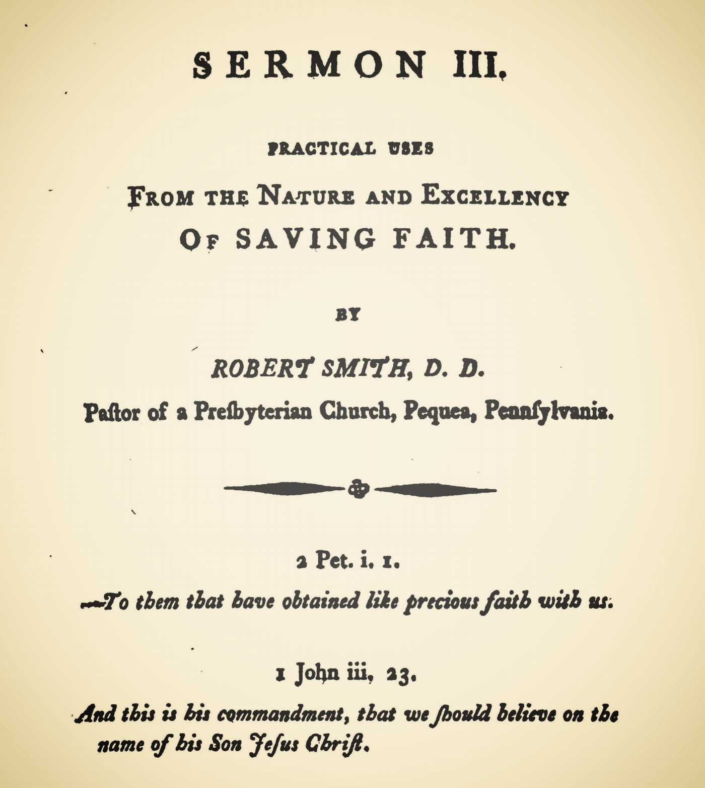 Smith, Robert, Practical Uses From the Nature and Excellency of Saving Faith Title Page.jpg