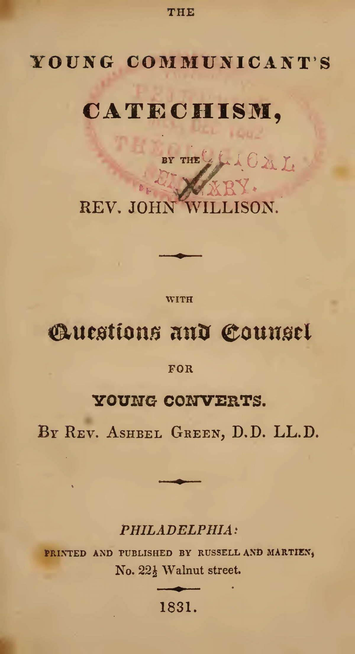 Green, Ashbel, Questions and Counsel for Young Converts Title Page.jpg