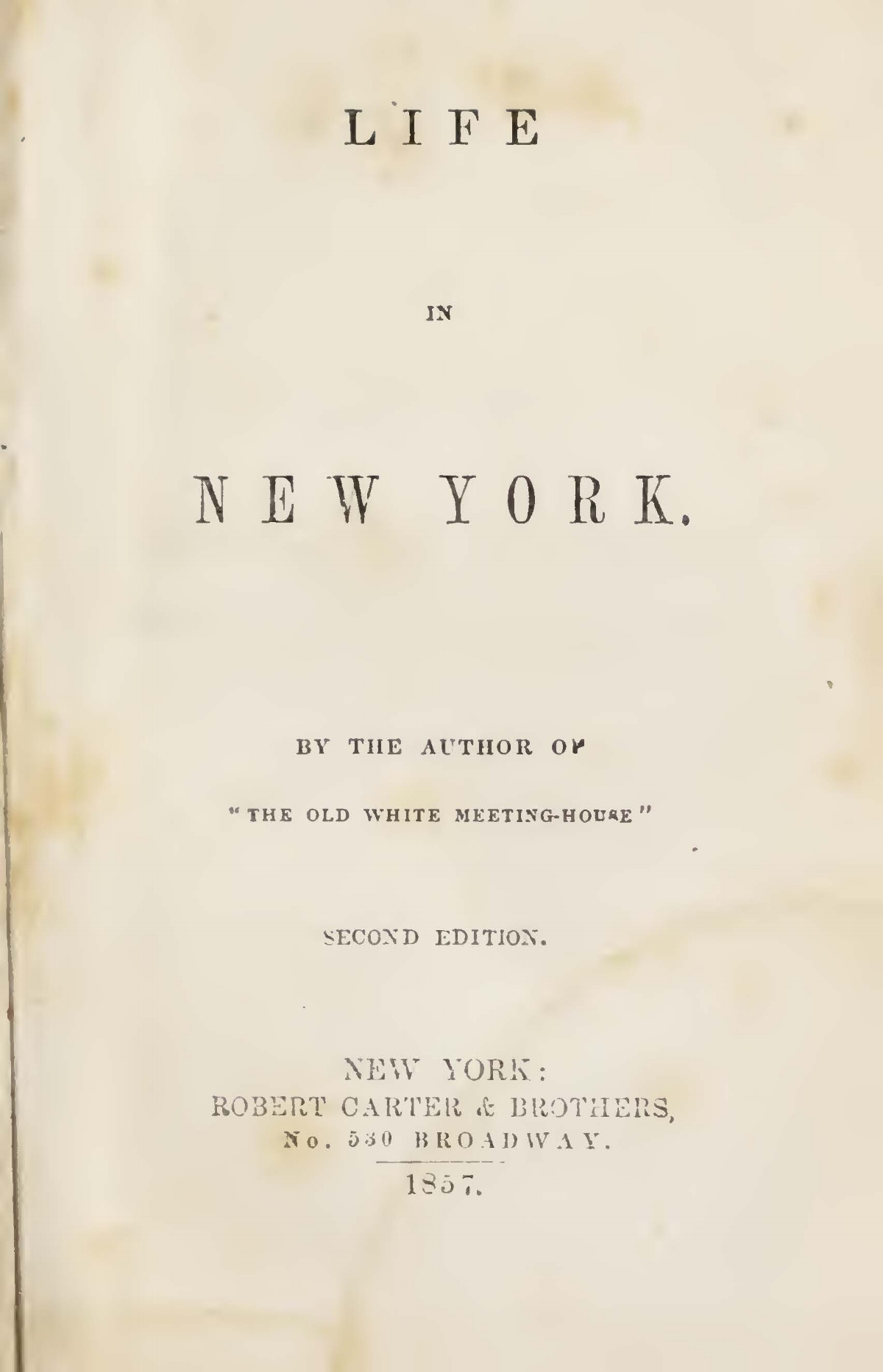Prime, Samuel Irenaeus, Life in New York Title Page.jpg