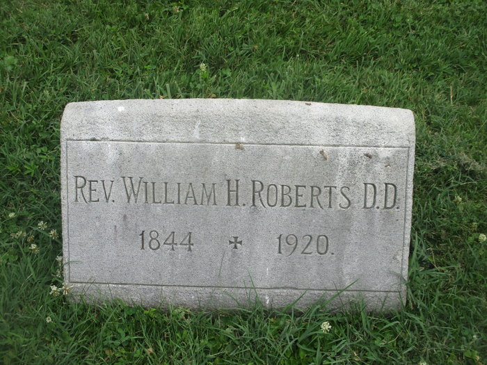 William Henry Roberts was buried at West Laurel Hill Cemetery, Bala Cynwyd, Pennsylvania.