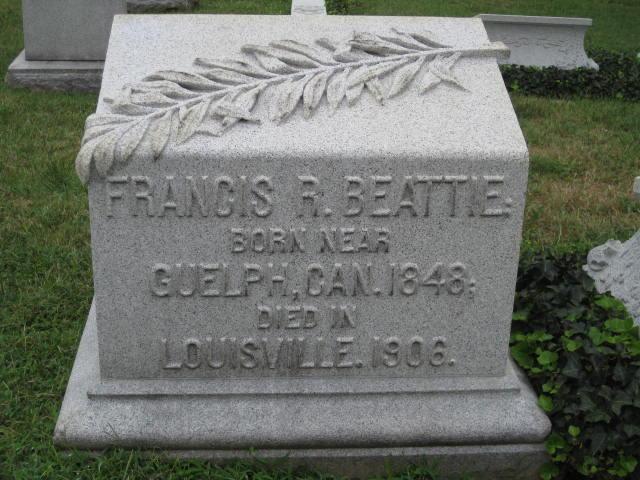 Beattie, Francis Robert gravestone photo.jpg
