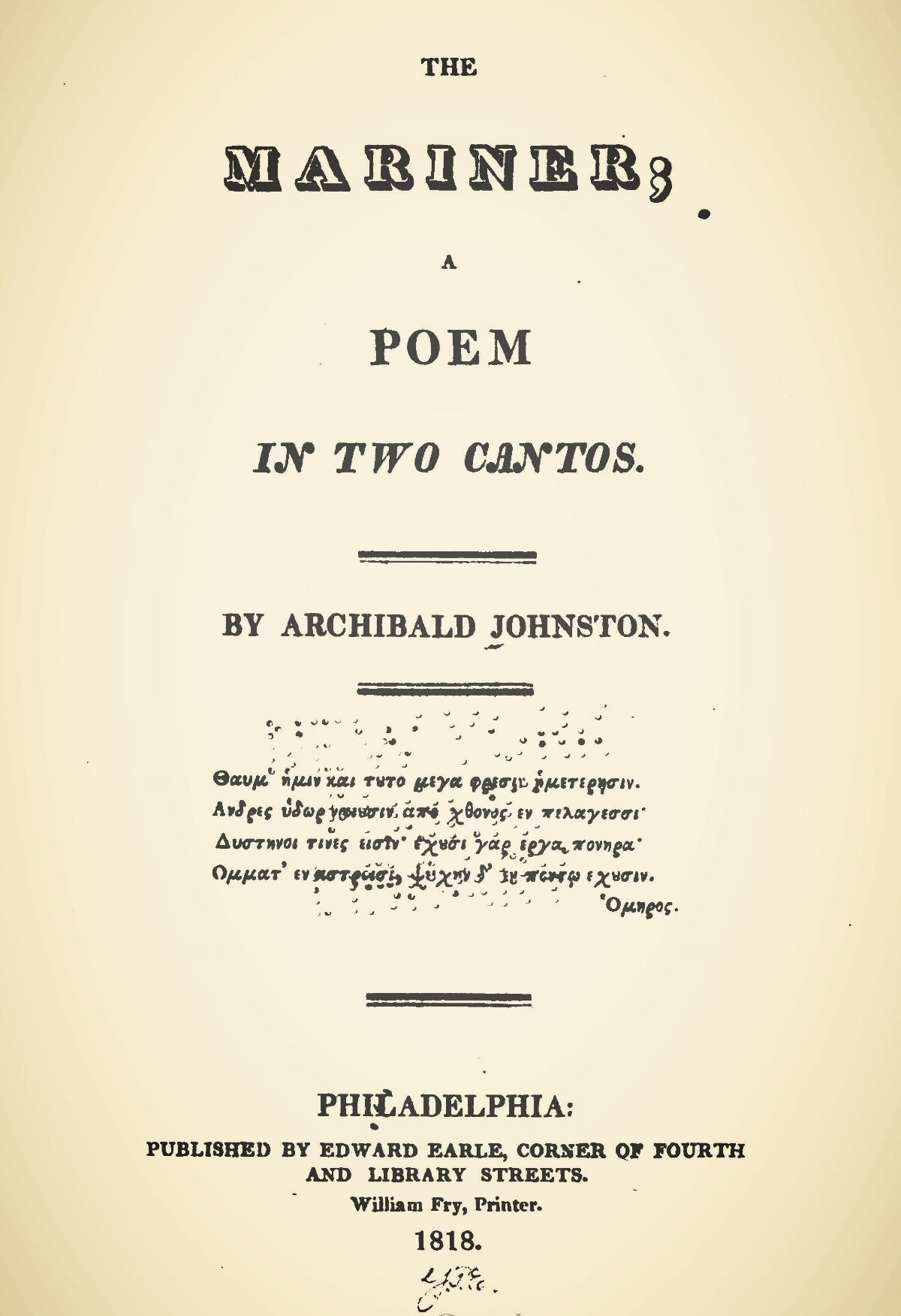 Johnston, Archibald, The Mariner Title Page.jpg