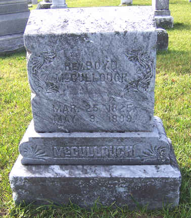 Boyd McCullough is buried at Beechwoods Cemetery, Falls Creek, Pennsylvania.