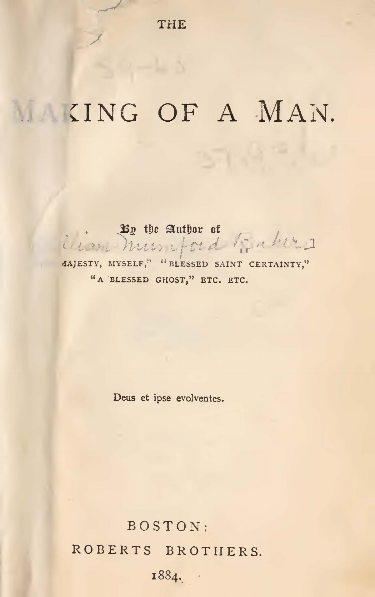 Baker, William Munford, The Making of a Man Title Page.jpg