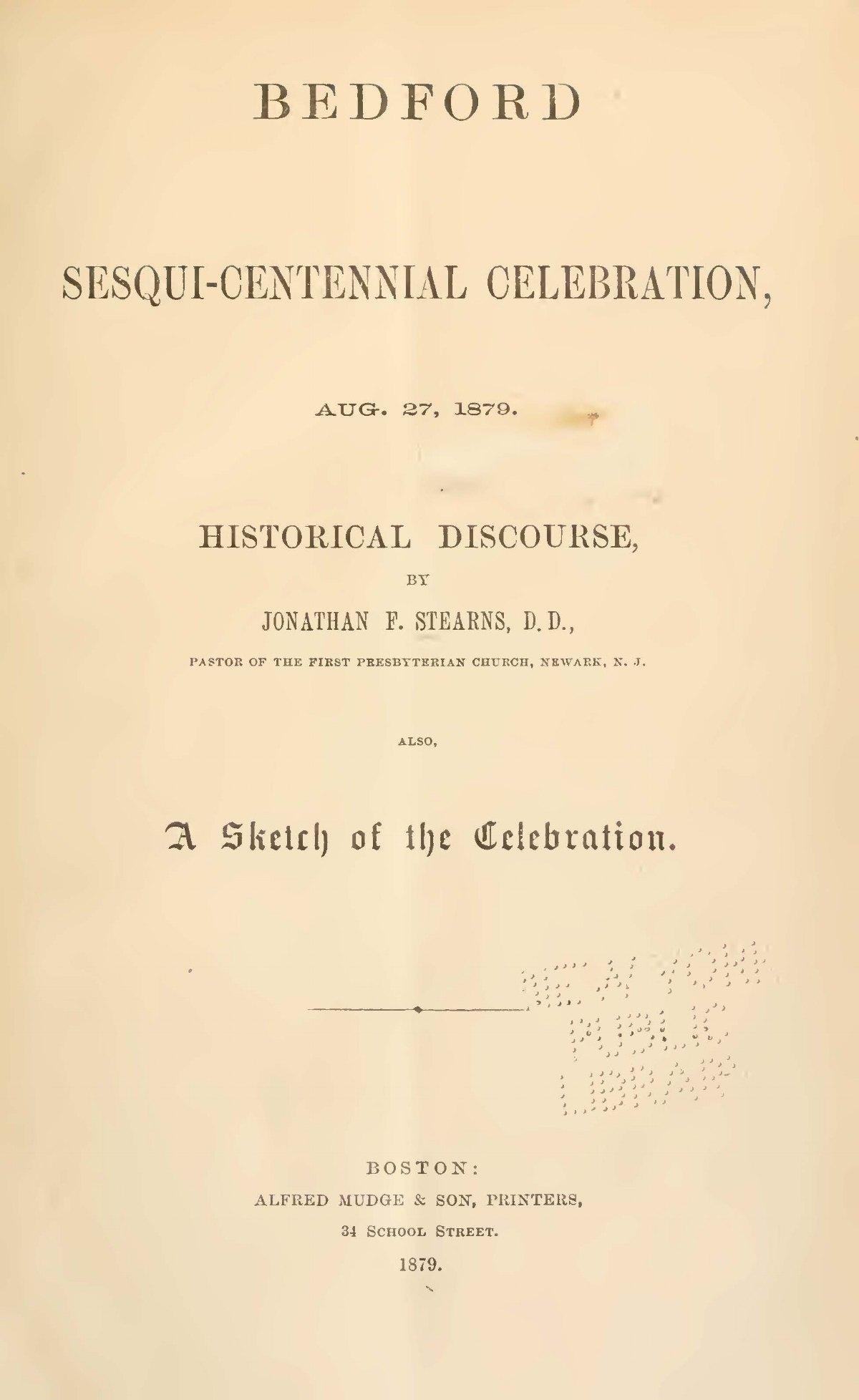 Stearns, Jonathan French, Bedford Sesqui-Centennial Celebration Title Page.jpg