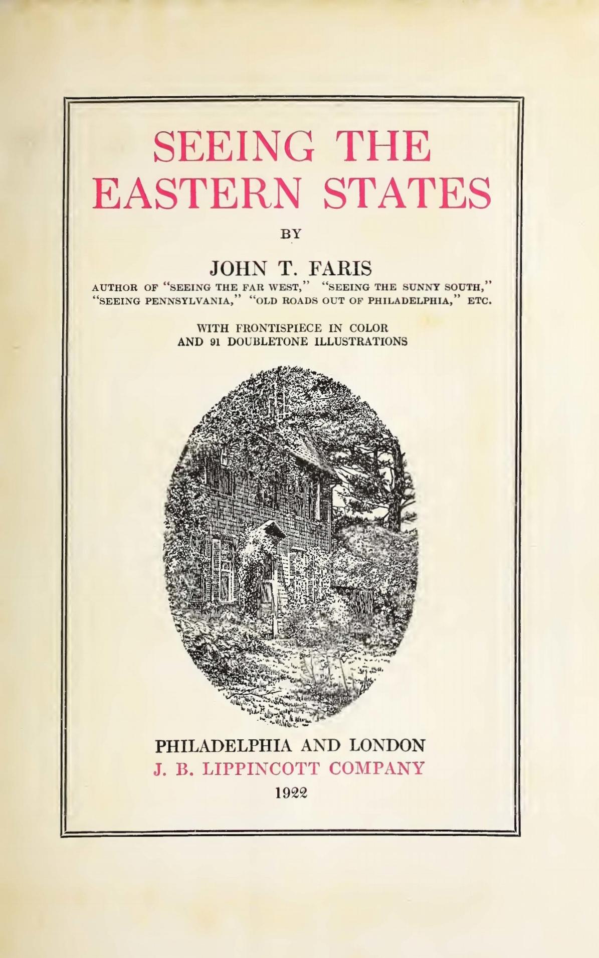 Faris, John Thomson, Seeing the Eastern States Title Page.jpg