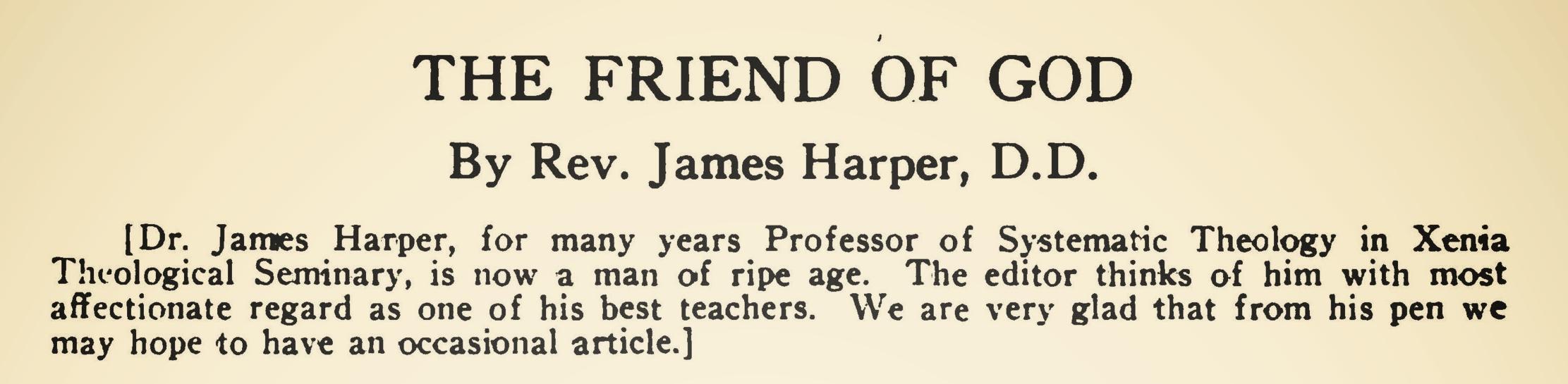 Harper, James, The Friend of God Title Page.jpg