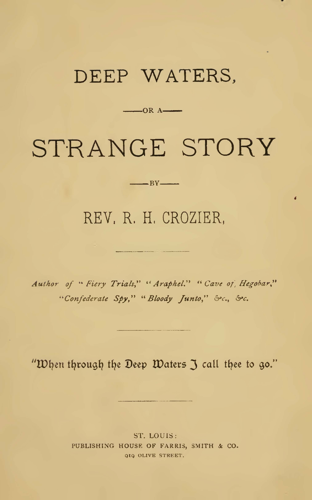 Crozier, Robert Hoskins, Deep Waters Title Page.jpg