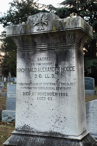 Archibald Alexander Hodge is buried at Princeton Cemetery, Princeton, New Jersey.