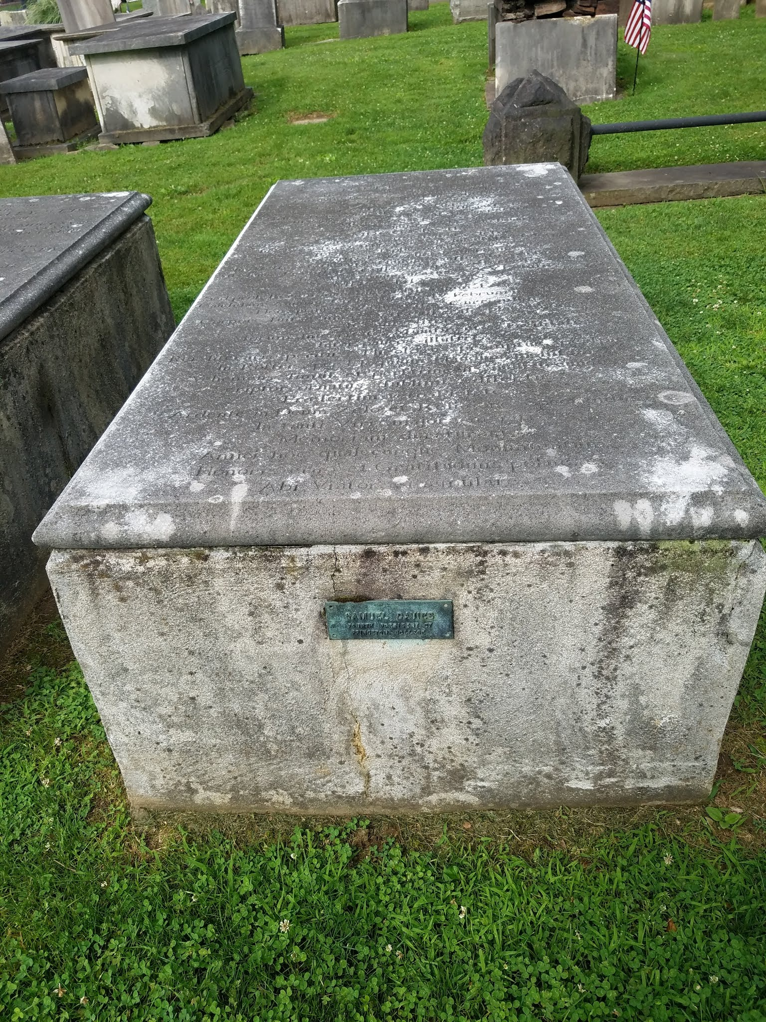Samuel Davies is buried at Princeton Cemetery, Princeton, New Jersey. Photo credit: R. Andrew Myers