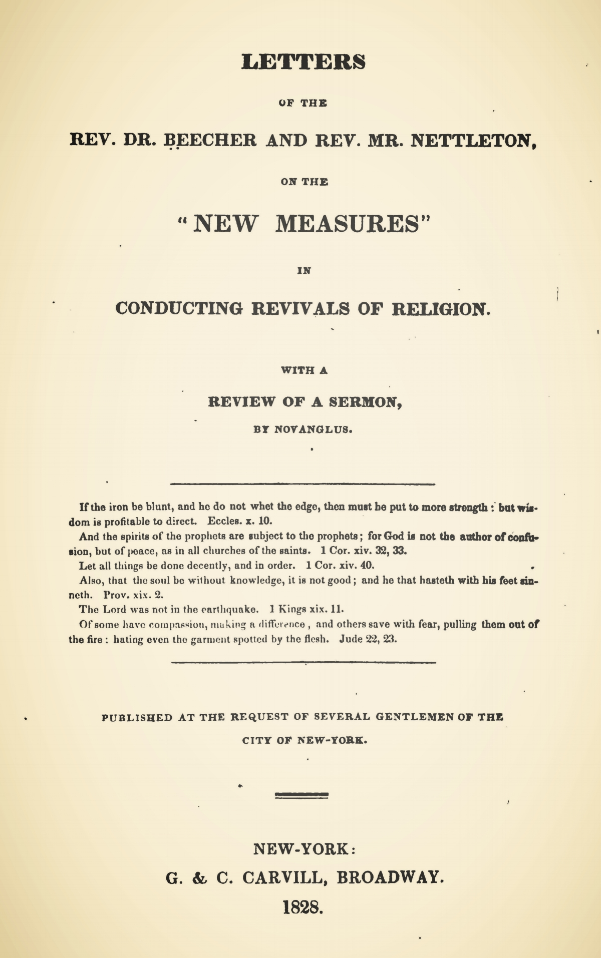Beecher, Lyman, Letters of the Rev. Dr. Beecher and Rev. Mr. Nettleton, on the New Measures Title Page.jpg