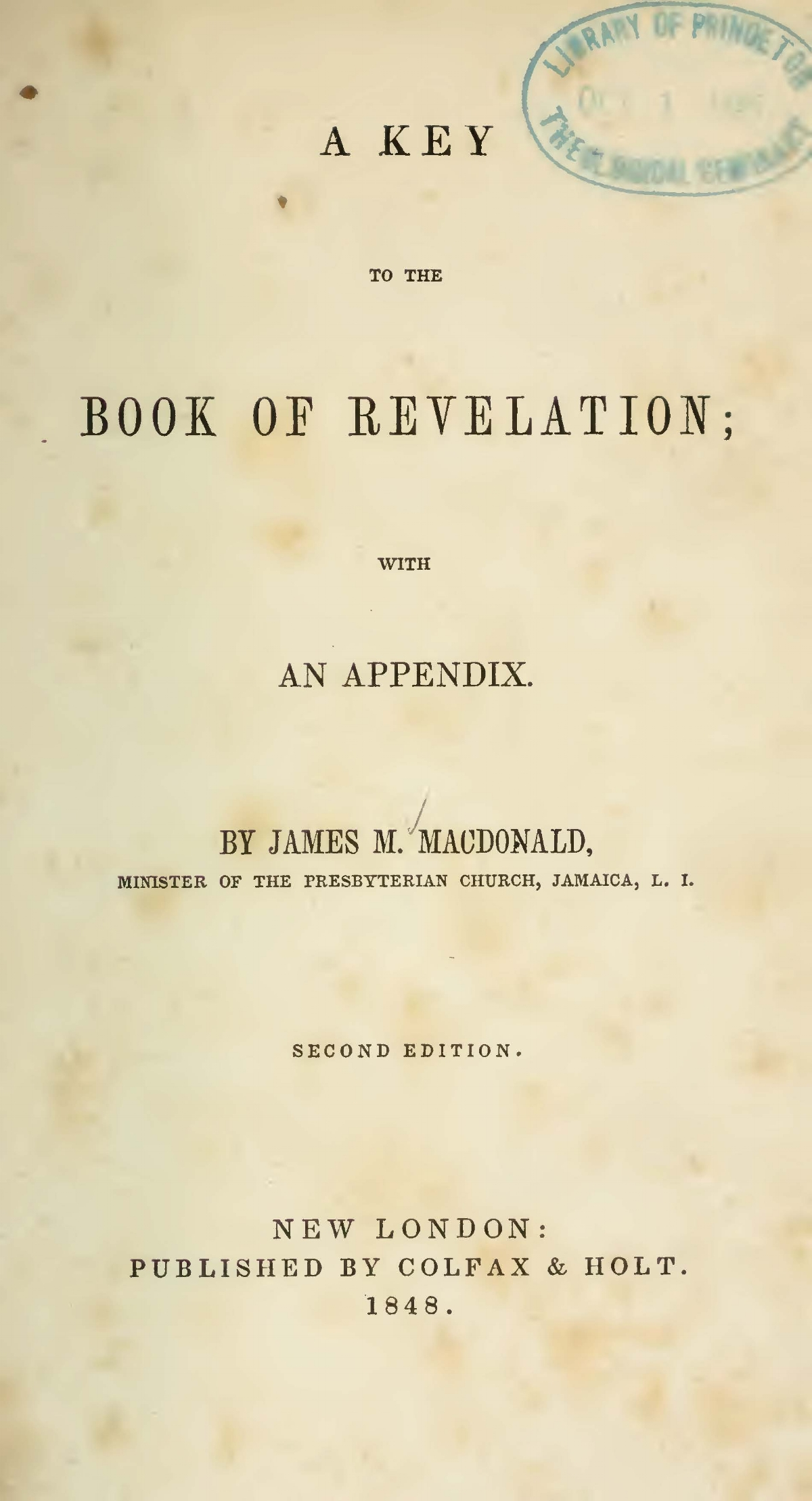 MacDonald, James Madison, A Key to the Book of Revelation Title Page.jpg