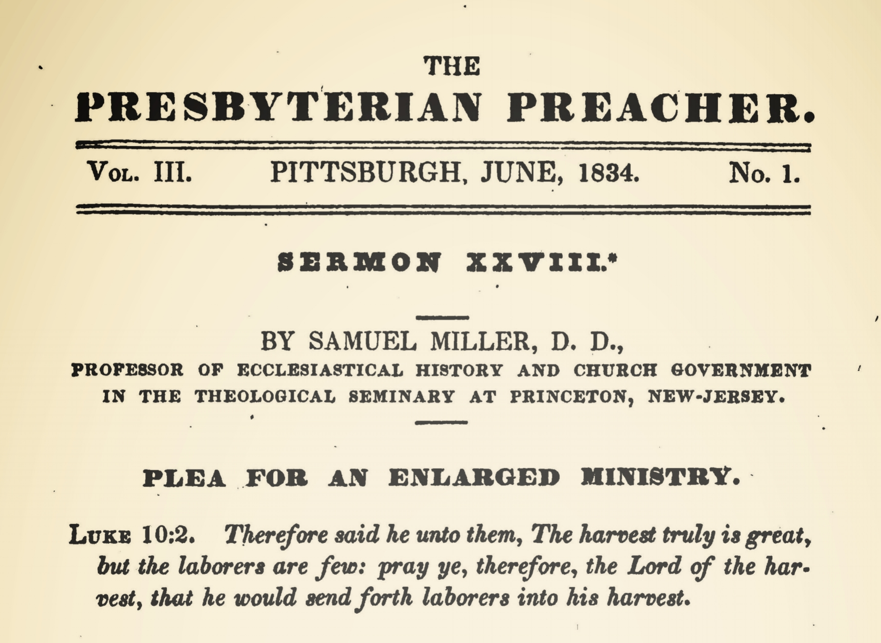 Miller, Samuel, Plea For An Enlarged Ministry Title Page.jpg