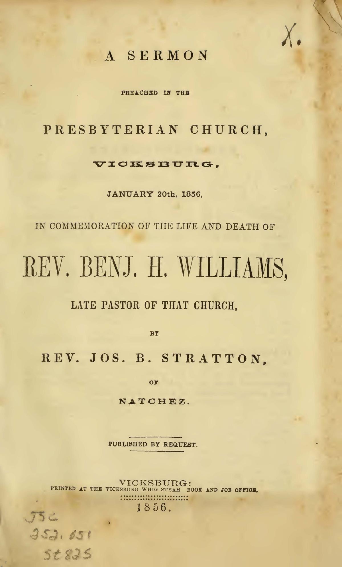 Stratton, Sr., Joseph Buck, A Sermon Preached Title Page.jpg