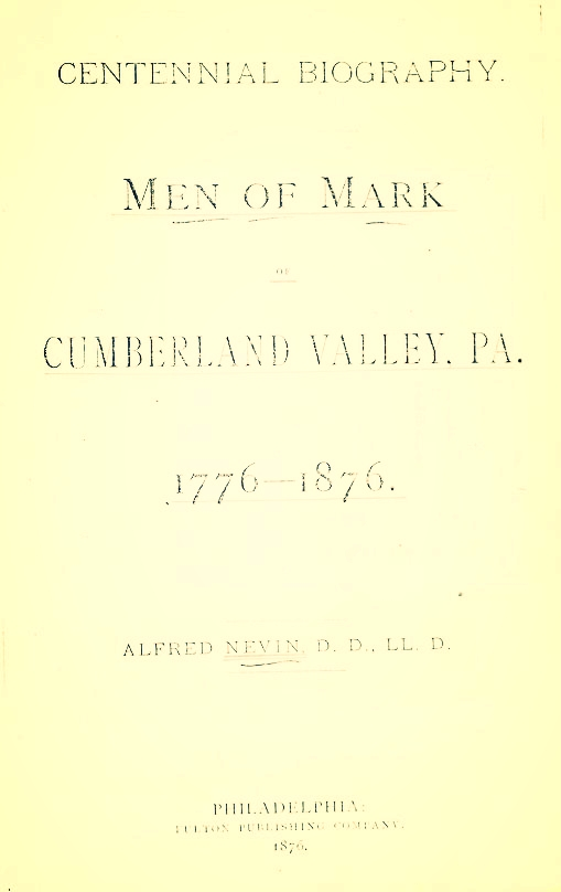 Nevin, Men of Mark of Cumberland Valley, PA.jpg
