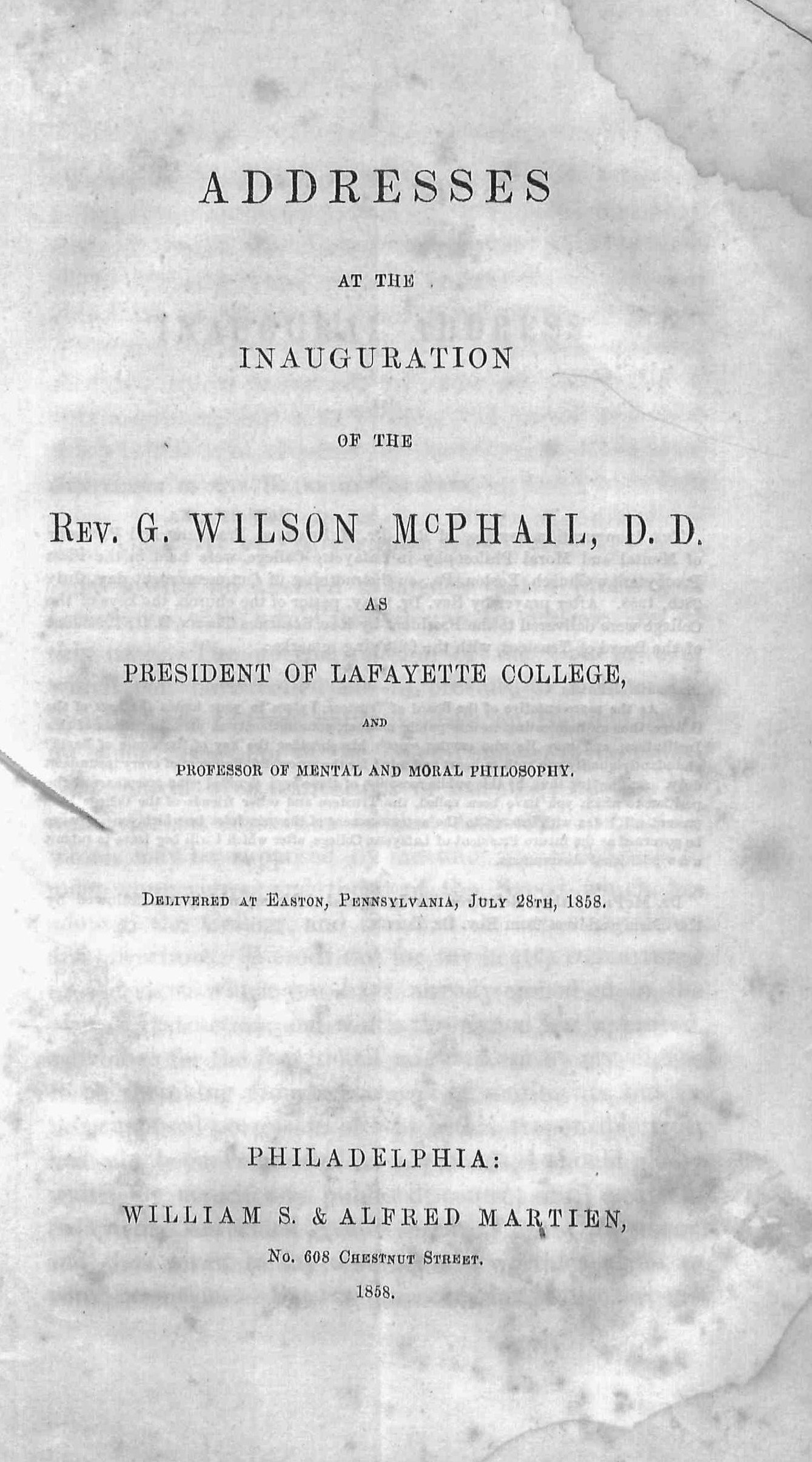 McPhail, George - Addresses at the Inauguration.jpg