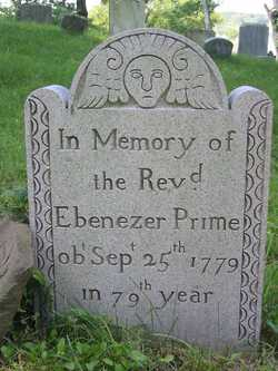 Ebenezer Prime is buried at Old Burying Hill Cemetery, Huntington, New York.