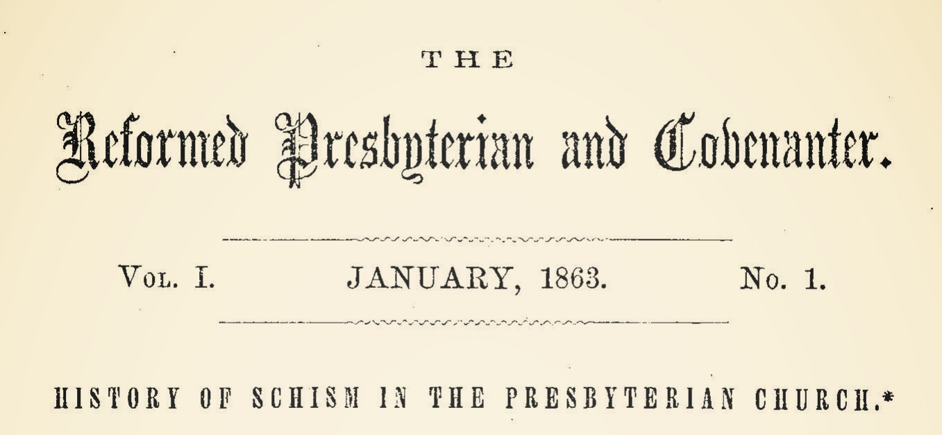 Sproull, Thomas, History of Schism in the Presbyterian Church Title Page.jpg