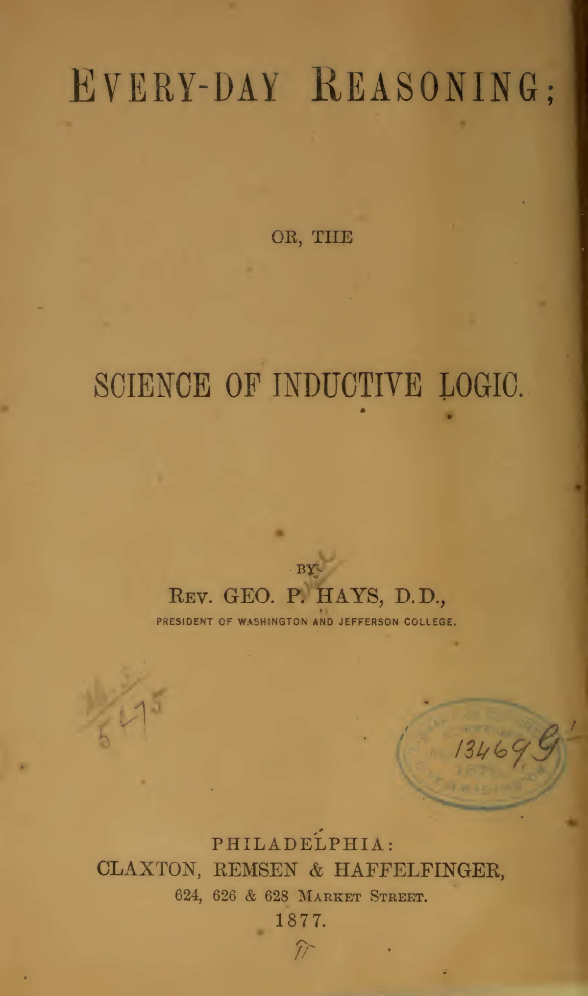 Hays, George Price, Every-Day Reasoning Title Page.jpg