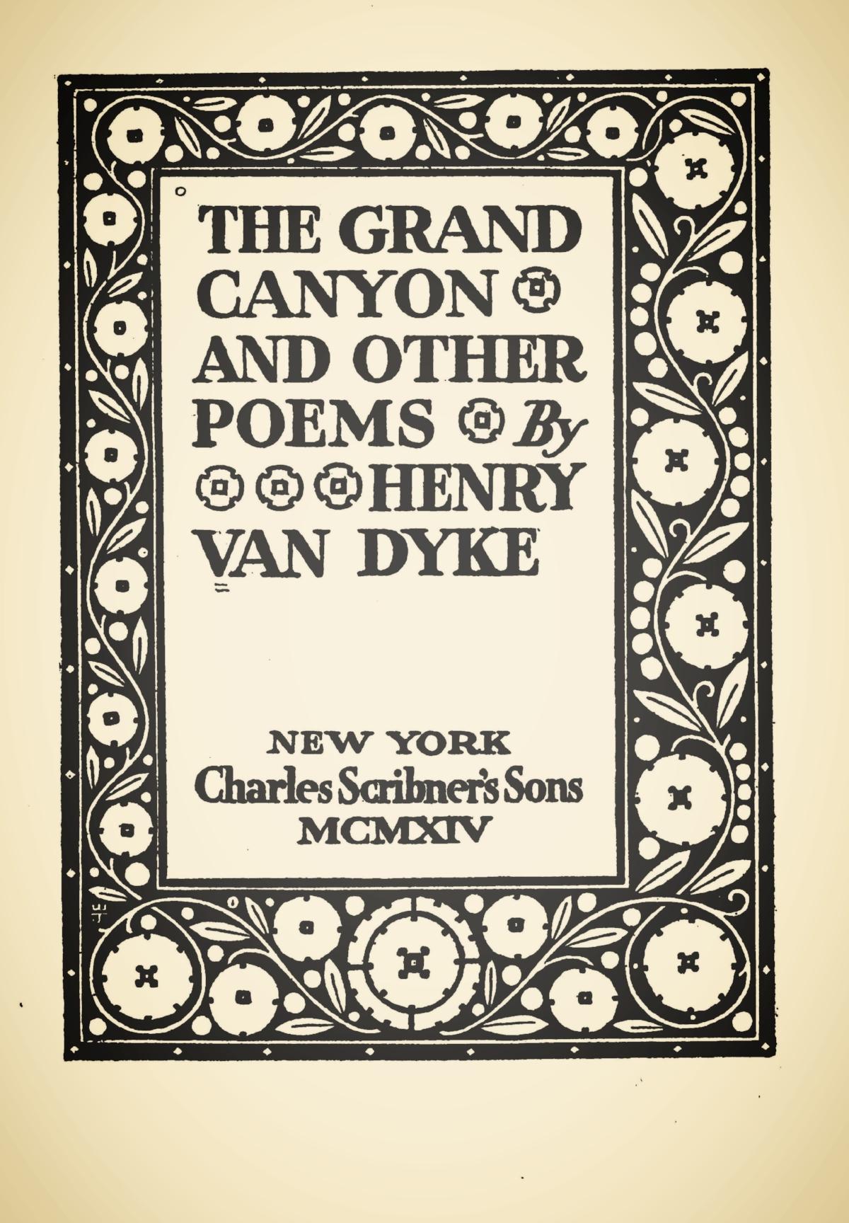 Van Dyke, Jr., Henry Jackson, The Grand Canyon Title Page.jpg