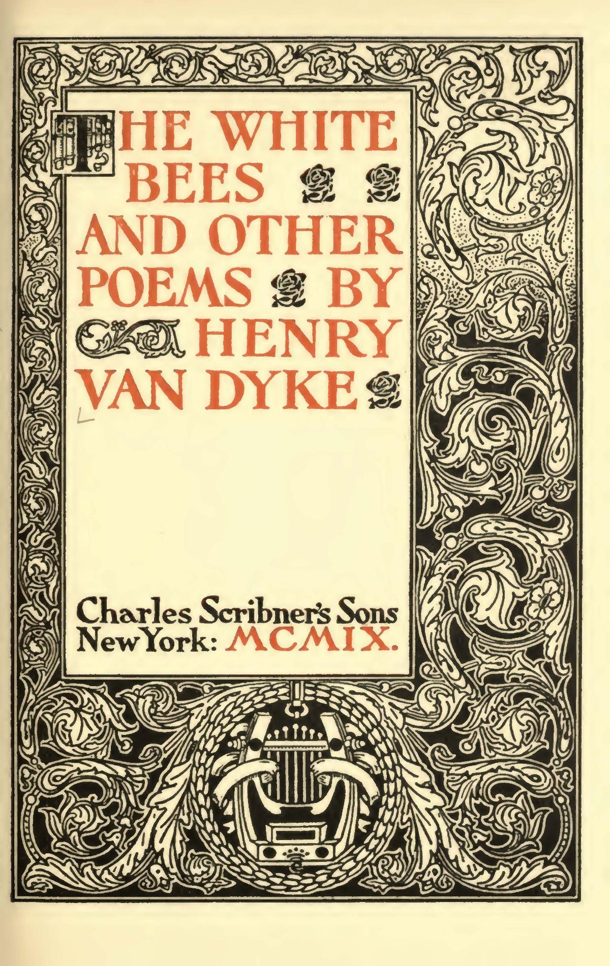 Van Dyke, Jr., Henry Jackson, The White Bees Title Page.jpg