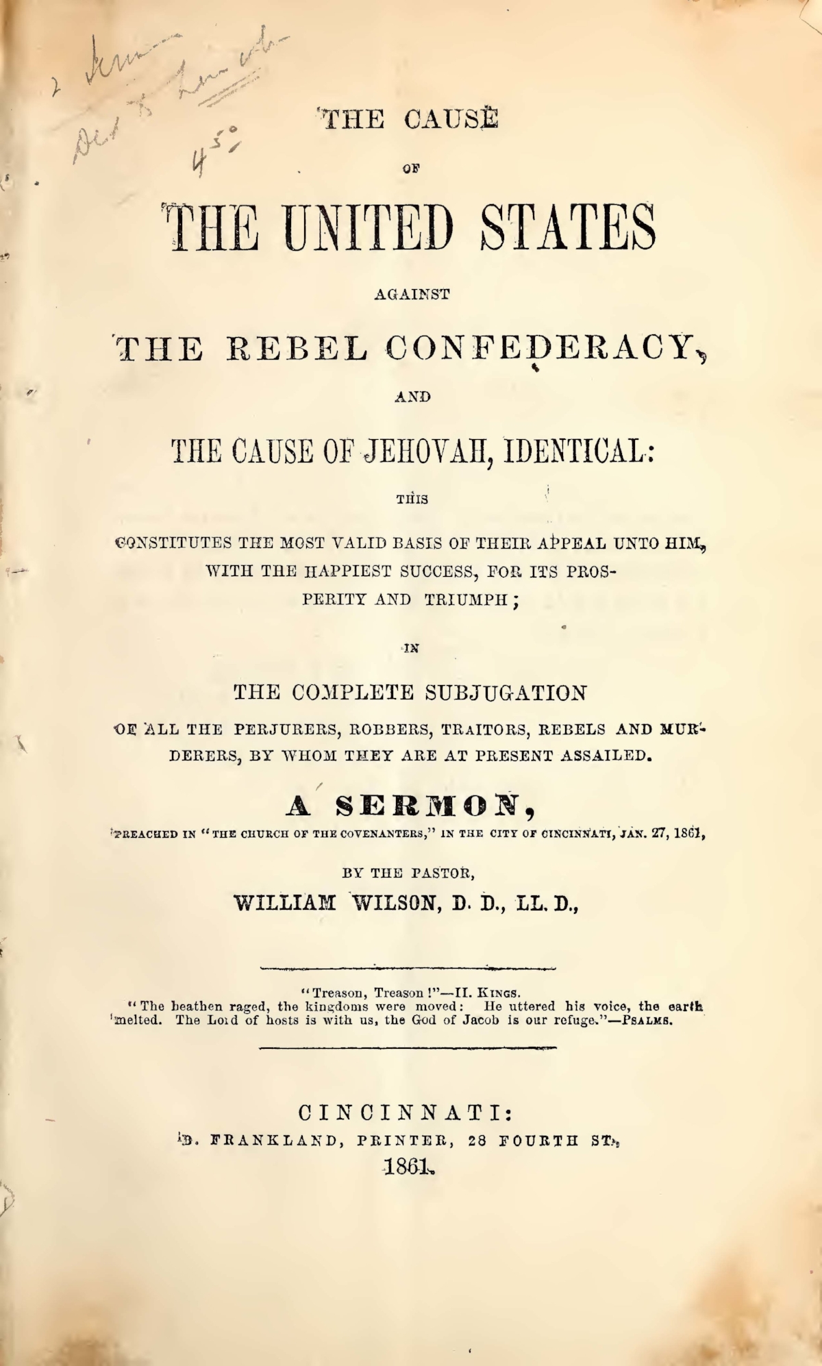 Wilson, William, The Cause of the United States Against the Rebel Confederacy Title Page.jpg