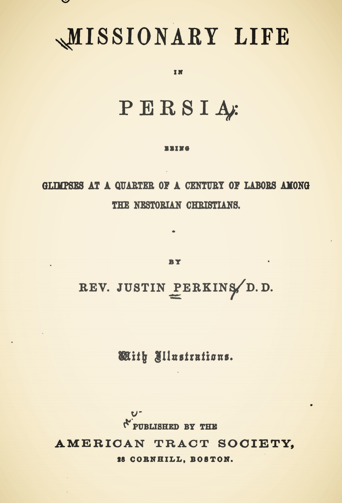 Perkins, Justin, Missionary Life in Persia Title Page.jpg